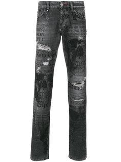 джинсы прямого кроя Times Philipp Plein