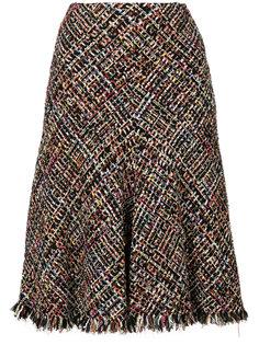 расклешенная твидовая юбка Alexander McQueen