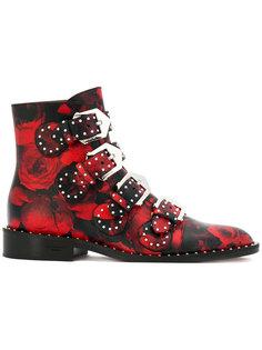ботинки с принтом роз Givenchy