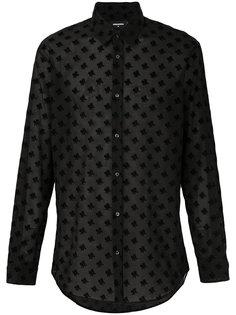 рубашка с цветочным принтом Dsquared2