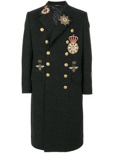 пальто с заплатками Dolce & Gabbana