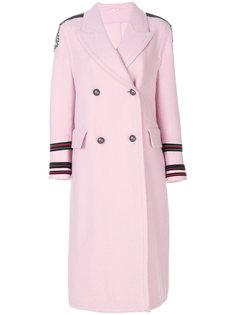 декорированное двубортное пальто Ermanno Scervino