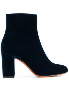 бархатные ботинки по щиколотку Santoni