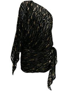платье на одно плечо с блестящей отделкой Alexandre Vauthier