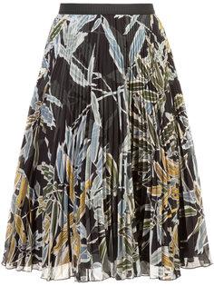 плиссированная юбка с цветочным принтом IM Isola Marras