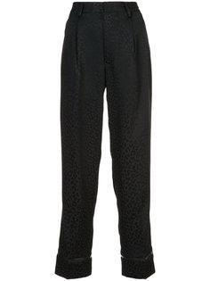 брюки с леопардовым принтом Comme Des Garçons Noir Kei Ninomiya