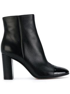 ботинки по щиколотку с контрастным носком Gianvito Rossi