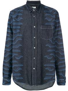 джинсовая рубашка с абстрактным принтом Kenzo