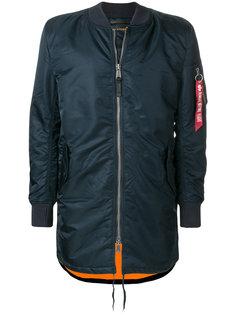 удлиненная куртка-бомбер  Alpha Industries