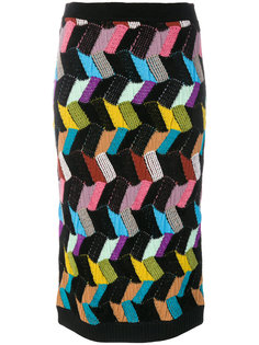 вязаная юбка с геометрическим узором  Missoni