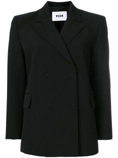 строгий пиджак прямого кроя  MSGM