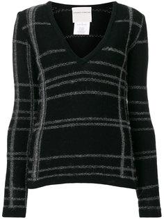 свитер в полоску с V-образным вырезом  Stephan Schneider