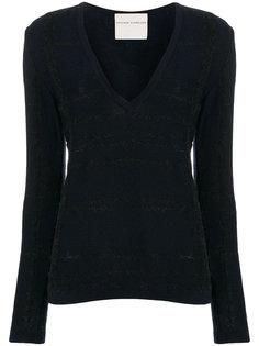 свитер с V-образным вырезом и длинными рукавами  Stephan Schneider