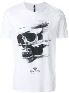 футболка с принтом черепа Tom Rebl