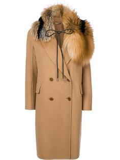 пальто с завязкой на вороте и длинными рукавами  Ermanno Scervino