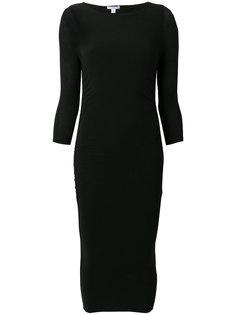 присборенное спереди платье  James Perse