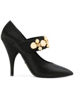 туфли Мэри Джейн с декорированными ремешками  Prada