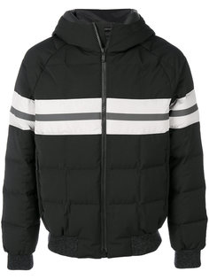 полосатая дутая куртка  Z Zegna