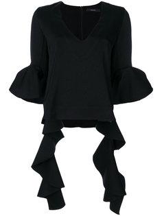 блузка с оборками  Ellery
