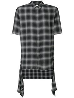 рубашка с короткими рукавами в клетку  Helmut Lang