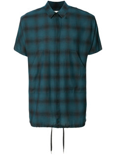 рубашка с корокими рукавами в клетку  Helmut Lang