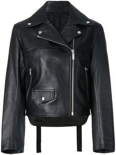 байкерская куртка с ремешками на спине Helmut Lang