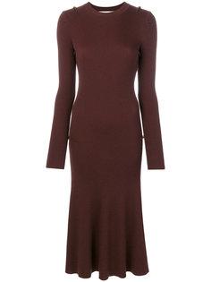 платье в рубчик Victoria Beckham