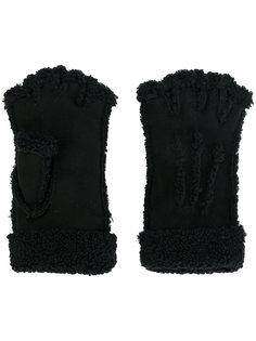 перчатки митенки Maison Fabre