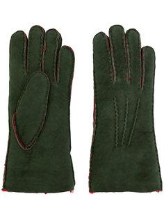 перчатки из овчины Maison Fabre