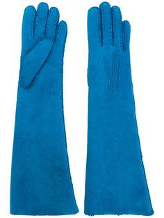 длинные перчатки из овчины Maison Fabre
