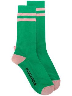 полосатые носки Dsquared2