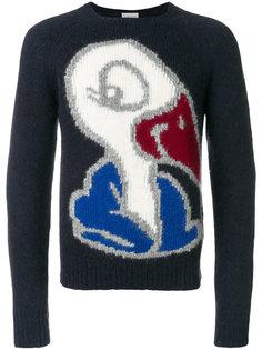 свитер с принтом лебедя Moncler
