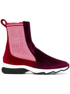 ботинки в двух тонах Fendi