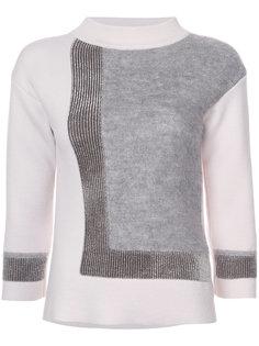 свитер дизайна колор-блок D.Exterior