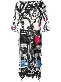 платье шифт с вышивкой  Tsumori Chisato
