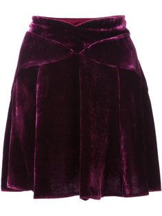 мини-юбка с фигурным поясом Anna Sui