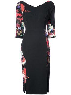платье с цветочным принтом Black Halo