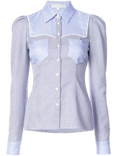 """рубашка в клетку """"гингем """" с контрастными панелями Caroline Constas"""