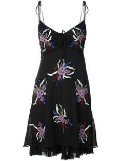 мини-платье с пайетками  Cinq A Sept