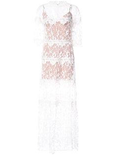 многослойное кружевное платье  For Love And Lemons