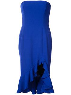 приталенное платье без бретелей Jay Godfrey
