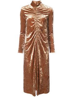 платье со сборками спереди Tibi