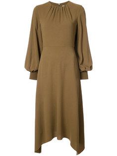 платье с асимметричным подолом Tibi