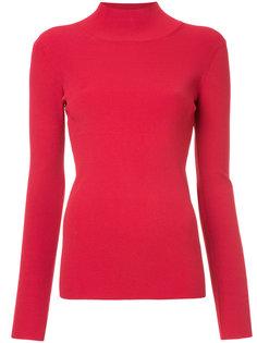 приталенный свитер с отворотом Irene