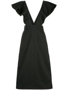 расклешенное платье с оборками Irene