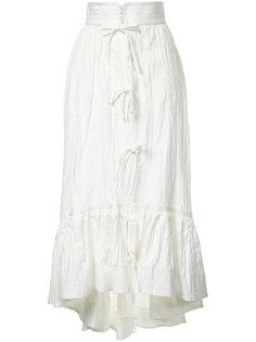 асимметричная юбка миди  Irene