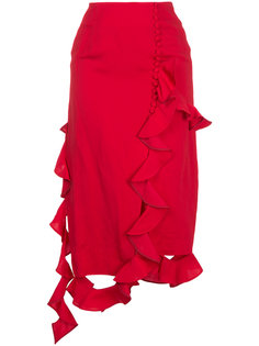 асимметричная юбка с оборками Irene