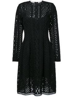 полупрозрачное платье с длинными рукавами  Ermanno Scervino