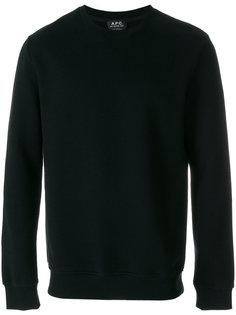 свитер с круглым вырезом A.P.C.