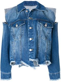 джинсовая куртка с прорванными деталями Sjyp